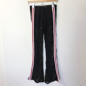NWT Surf Gypsy Lace Flares with Side Stripes - M